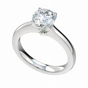 solid cathedral solitaire engagement ring chr1115 675 With cathedral wedding ring