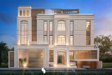 house architecture plans 375 m villa kuwait by sadeq architects