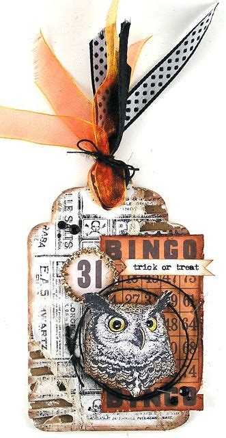 suzzs stamping spot owl   halloween tags