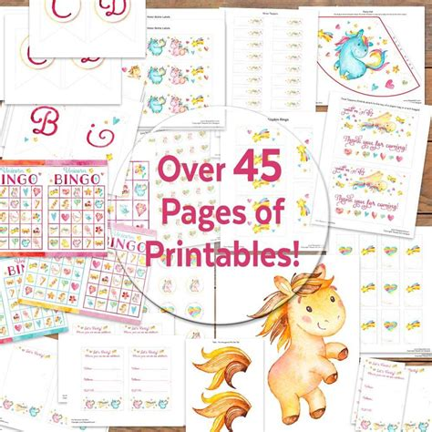 free unicorn birthday printables for free unicorn printables