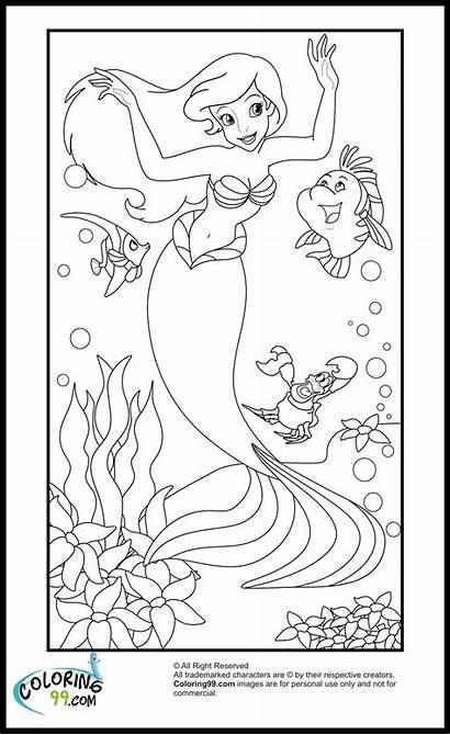 Ariel Coloring Disney Princess Pages Mermaid Coloring99