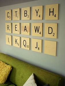Large scrabble letters wall decor : Brilliant diy wall art ideas for your blank walls