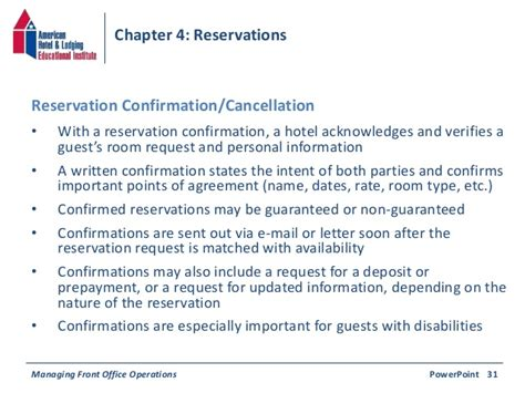chapter  reservations