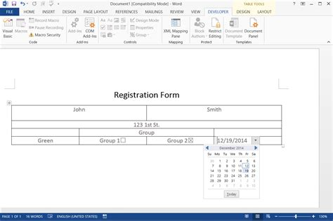 microsoft word fillable form how to create a fillable form in word 2007 techwalla