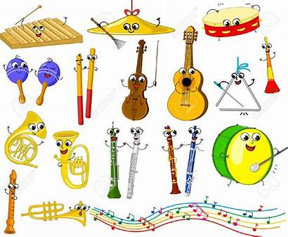 Instruments Musical Clipart Cartoon Cliparts Funny Clipground
