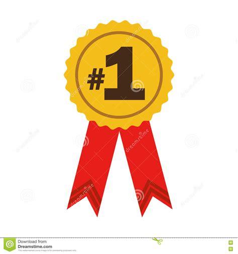 numero 1 de la literie premio de la cinta n 250 mero uno ilustraci 243 n vector imagen 80277182
