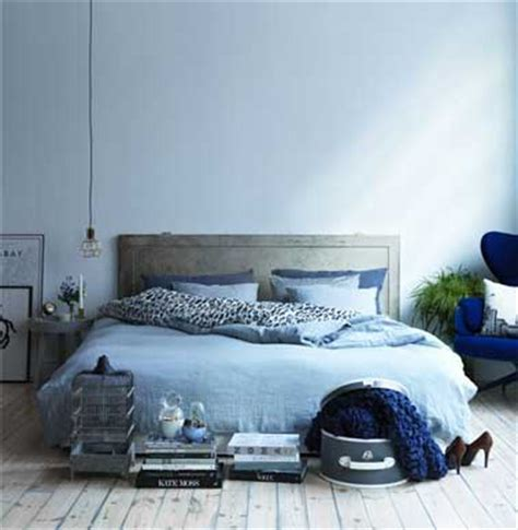 chambre en bleu couleur chambre en dégradé de bleu et gris