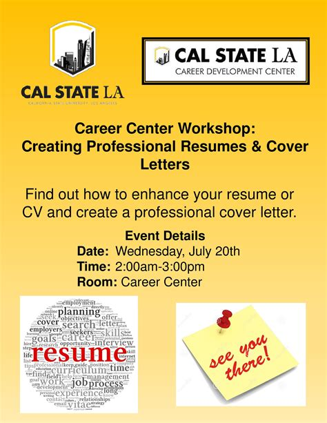 Career Center Resume Workshop by Career Center Workshop Creating Professional Resumes Cover Letters California State