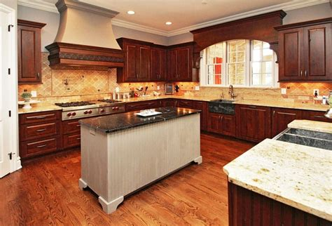 custom solid wood kitchen cabinets designing idea