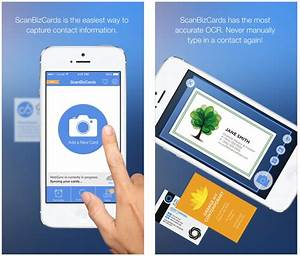 Business card reader iphone contacts best business cards for Scan business cards iphone