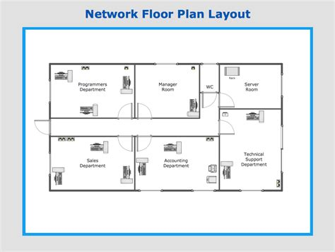 Building Layout Diagram by Sle Network Floor Plan Layout Office Plans
