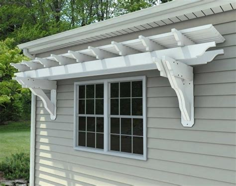 attached vinyl pergola kits pergola gazebo ideas