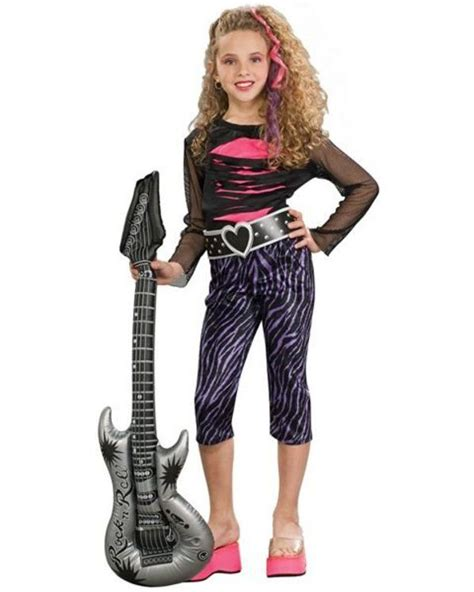 80s Rock Star Costume - Girls 80s Halloween Costumes