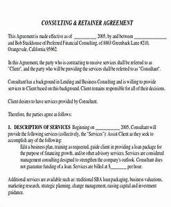 agreement examples With retainer fee agreement template