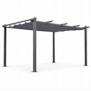 Abri De Terrasse Retractable : tente de jardin pergola aluminium 3x4m condate gris ~ Dailycaller-alerts.com Idées de Décoration