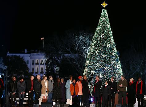 obama family lights the white house tree aol news