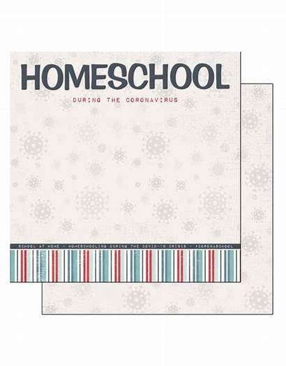 Covid Title Paper Homeschool Double Scrapbook Sided