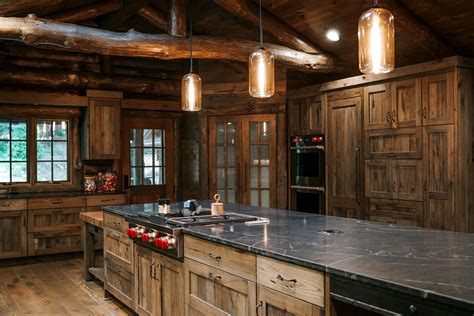 rustic hickory kitchen cabinets distressed rustic hickory kitchen cabinets alpine