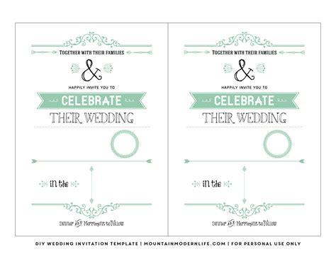 free printable wedding invitations templates downloads free wedding invitation template mountainmodernlife