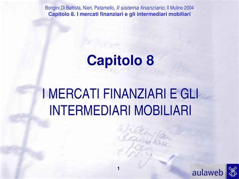 Economia Degli Intermediari Finanziari Dispense by Mercati Finanziari E Intermediari Mobiliari Dispense