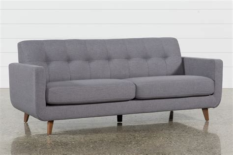 Grey Loveseat by Grey Sofa Living Spaces