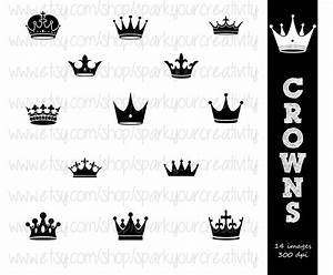 Crown Tiara Silhouettes // Commerical Use Silhouette