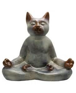 cat statues zen cat ceramic statue