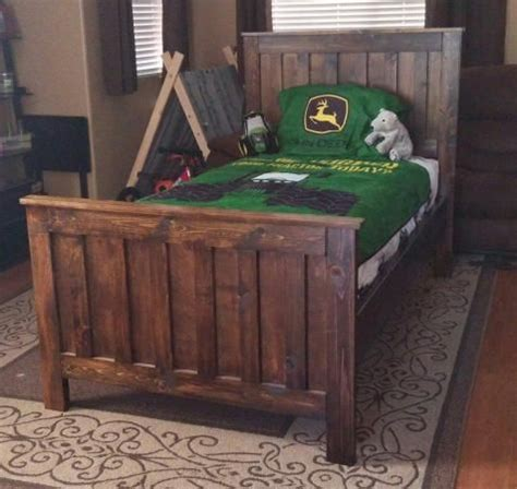 rustic wood farmhouse style bed potterybarnkids camp style