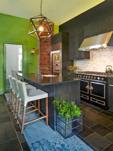 painted kitchen floor 30 colorful kitchen design ideas from hgtv hgtv 1383