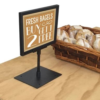 countertop sign holder bagel donut displays