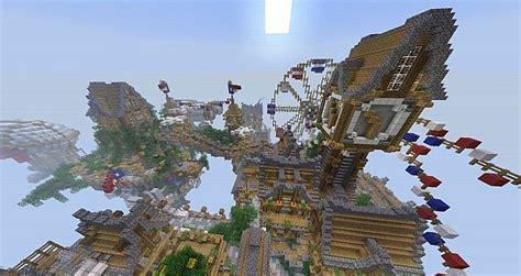 floating city cielo bioshock minecraft build  minecraft building