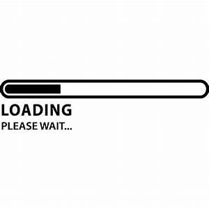 stickers ordinateurs portables sticker loading please With please wait
