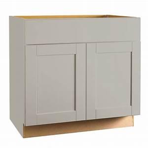 Hampton Bay Shaker Assembled 36 X 345 X 21 In Base Bath Vanity Cabinet In Dove Gray KVSB36 SDV