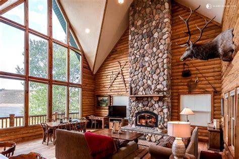 glamping hub waterfront log cabin rental  wood burning stove  salt lake city utah