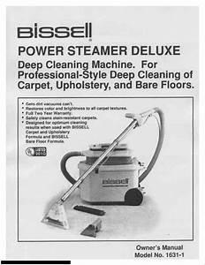 Bissell Power Steamer Carpet Cleaner Manual  U2022 Vacuumcleaness