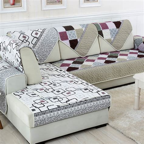 Sofa Headrest Covers India by L Shaped Covers Ldnmen