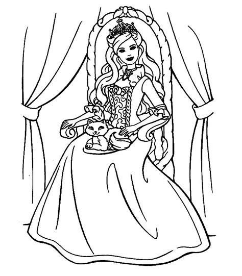 Barbie la principessa e la povera da colorare mondo bimbo. Barbie Cuore Principessa, Disegni per bambini da colorare