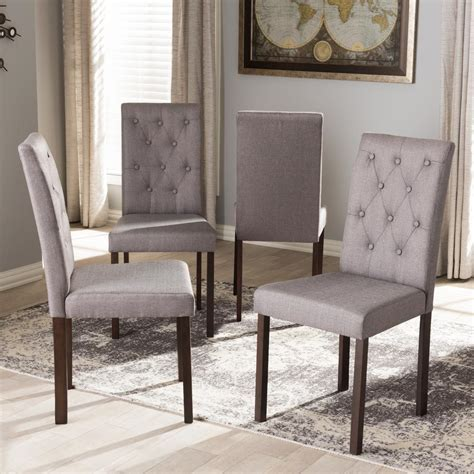 dining chairs fabric baxton studio gardner gray fabric upholstered dining 3326