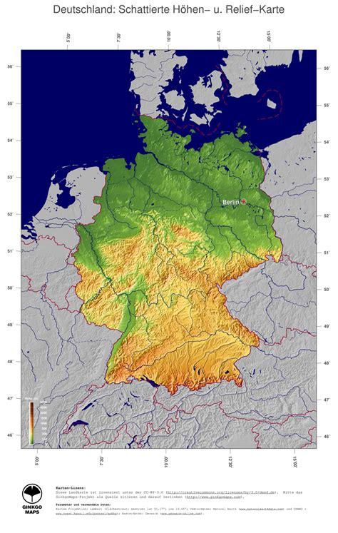 landkarte deutschland ginkgomaps landkarten sammlung