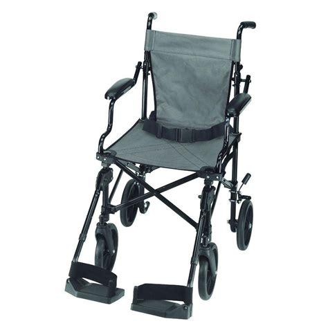 dmi folding lightweight transport chair in aluminum 501