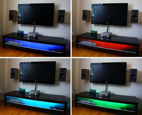 Led Lights For Room Ikea by Diy Project Leds Brighten Up Ikea Tv Unit Ikea Tv Unit
