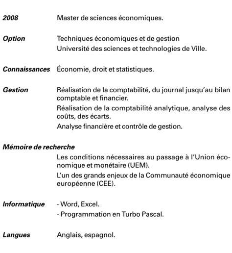Comment Preparer Un Cv En Francais by Pr 233 Parer Un Cv Exemple Comment Faire Un Cv En 2016 Jaoloron