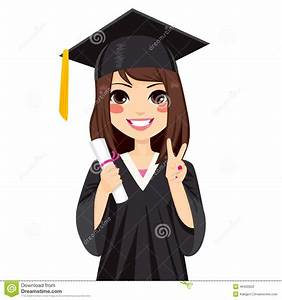 Graduation Girl Clipart - Clipart Suggest