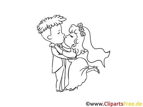 kuss clipart bild cartoon ausmalbild gratis