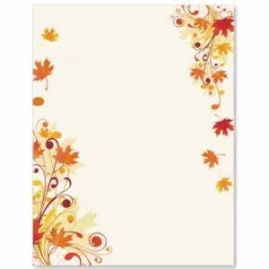 Autumn Flyers Are More Effective With Fall Border Paper ...