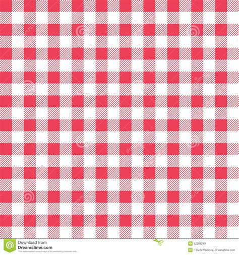 red white karo muster texture background stock photo