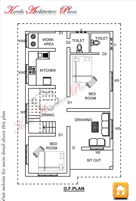 2 bedroom small house plans surprising design ideas architectural house plans kerala 2