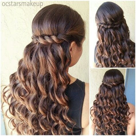 quinceanera hairstyles  curls  tiara hair