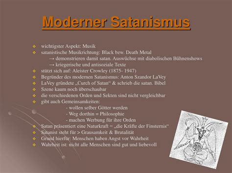 Moderner Satanismus by Ppt Satanismus Powerpoint Presentation Id 673647