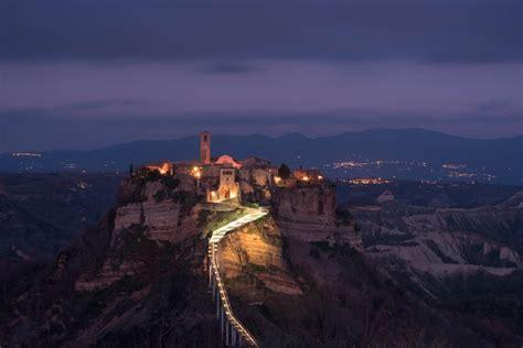Civita Di Bagnoregio At Night Italyphotos